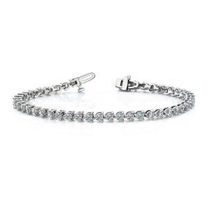 Jewelry - 3.5 Ct round cut three prong set diamond tennis br